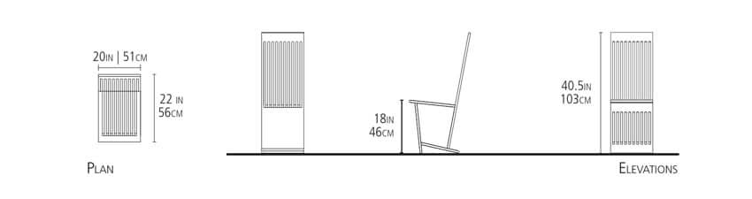 These are the Eugene Stoltzfus Furniture measurements for their Pinwheel Chair
